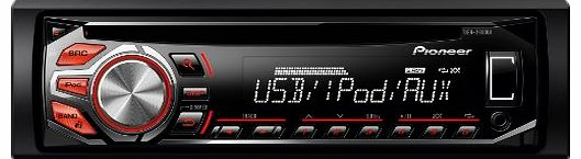Pioneer DEH-2600Ui RDS CD Tuner with Illuminated Front USB, Aux-In, iPod and iPhone Direct Control
