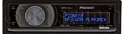 Pioneer DEH-6010MP CD/MP3 Tuner with Rotary Commander and 2 RCA Preouts