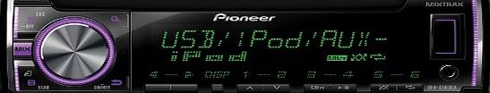 Pioneer DEH-X3600Ui CD Tuner with Front USB, Aux-in, iPod/iPhone Control, MIXTRAX EZ and Custom Multi-Colour