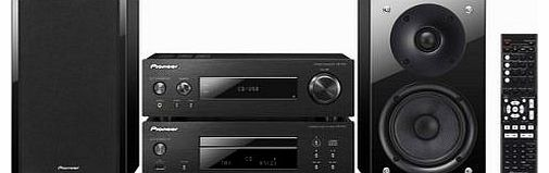 P1DAB-K Compact Component Hi-Fi System with CD, iPod/iPhone Playback, DAB Radio, Front USB and 75W Gloss Black Speaker - Black