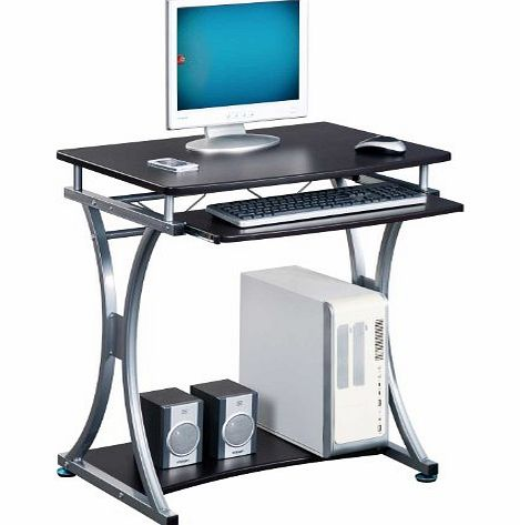 Piranha PC11 BLACK COMPACT COMPUTER DESK for the Home Office
