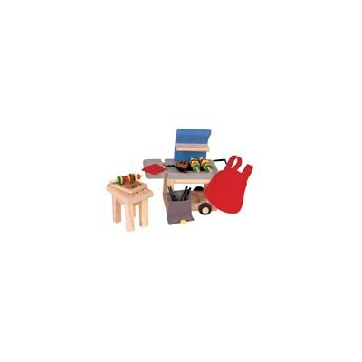 7335: BBQ Set (Wooden Dollhouse Furniture)