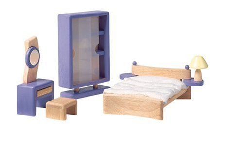 7444: Bedroom (Wooden Dollhouse Furniture)