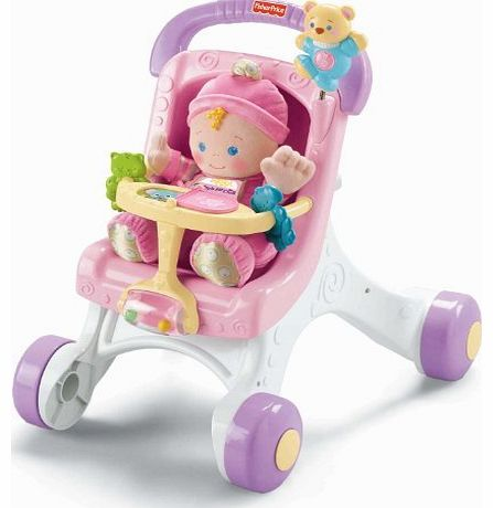 Fisher-Price Brilliant Basics Stroll Along Walker Toy/Game/Play Child/Kid/Children