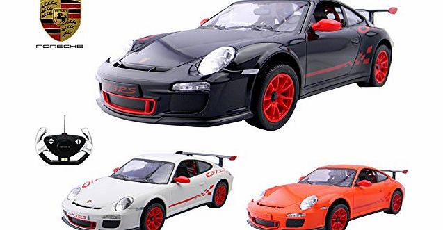 Playtech Logic Official Licensed PL9328 1:14 Scale Porsche 911 GT3 RS Electric RC Radio Controlled Car - Ready to Run, EP (Black)