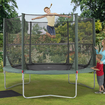 Plum 10ft Trampoline and Folding Enclosure