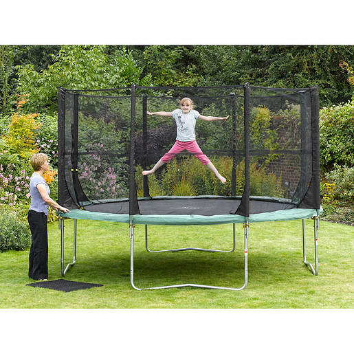 Plum 14 Foot Space Zone Trampoline and 3G