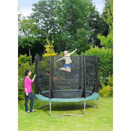 Plum 8 Foot Space Zone Trampoline and 3G Enclosure