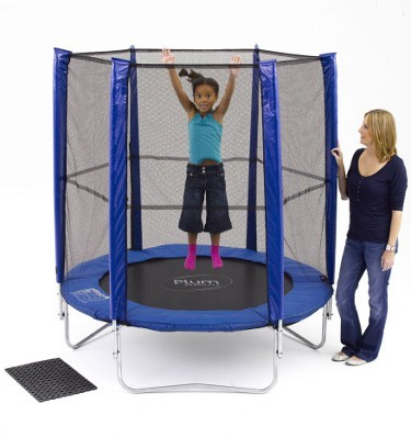 Plum Products © 6 ft. Blue Trampoline and Enclosure