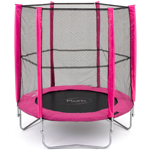 PLUM Products 6ft Pink Trampoline and Enclosure