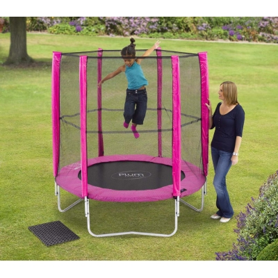 Plum Products 6ft Trampoline and Enclosure Pink MATT012