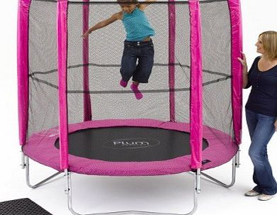 Plum Products Play 6ft Pink Trampoline with Enclosure
