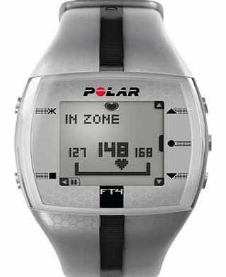 Polar FT4 Fitness Watch - Silver and Black