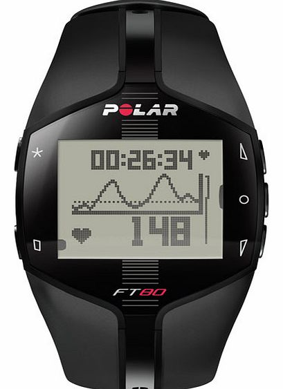 Polar FT80 Heart Rate Monitor - Black 90032785
