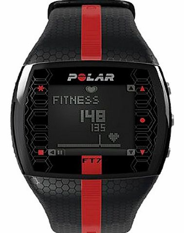 Polar Heart Rate Monitor Mens Watch FT7M-RED/BLK