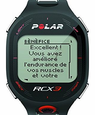 Polar Mens RCX3 Heart Rate Monitor and Sports Watch - Black