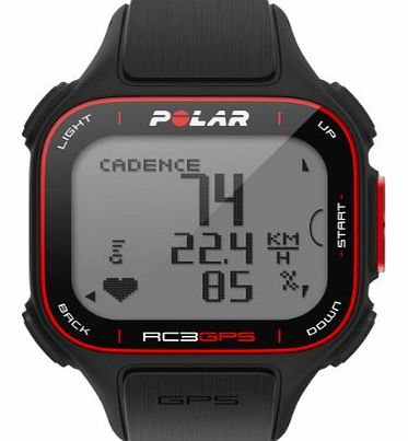 Polar RC3 GPS Heart Rate Monitor and Cycling Watch - Black