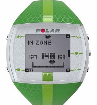 Polar Womens FT4 Heart Rate Monitor and Sports Watch - Green