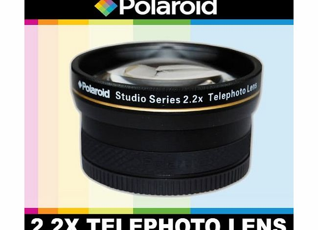 Studio Series 2.2X High Definition Telephoto Lens, Includes Lens Pouch and Cap Covers For The Olympus Evolt E-30, E-300, E-330, E-410, E-420, E-450, E-500, E-510, E-520, E-600, E-620, E-1, E-