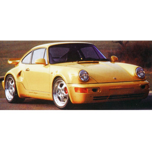 porsche 911 Turbo S 1992 Yellow