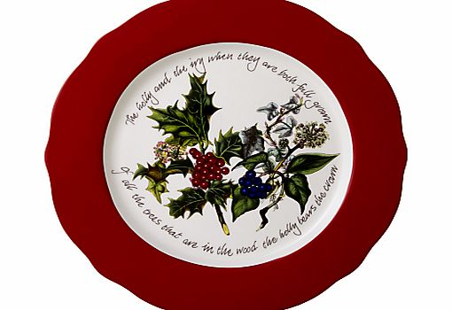 Portmeirion The Holly and The Ivy Charger Plate,