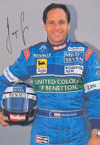 Berger Benetton 1996 Promotional Postcard