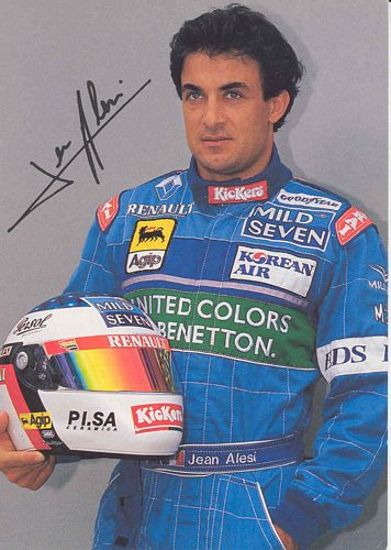 Alesi Benetton 1996 Promotional Postcard