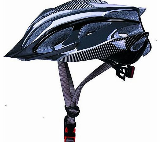 Boys/girls/Ladies Road Mountain Bike Bicycle MTB BMX Cycling Helmet with visor M 52-56cm,black and white