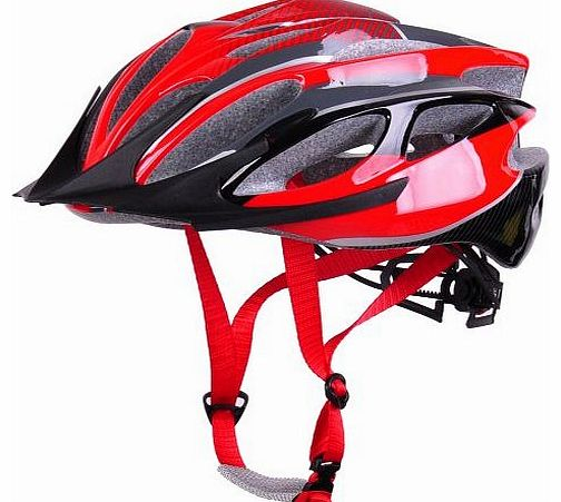 Racing Road Mountain Bike cycling Helmet for boys girs men women Size 54-59cm,Red