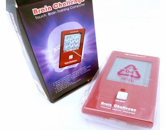 PowerBrain Travel Electronic Touch Screen Brain Challenge Game with 10 Games