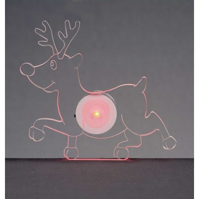 12cm LED Reindeer Window Sucker