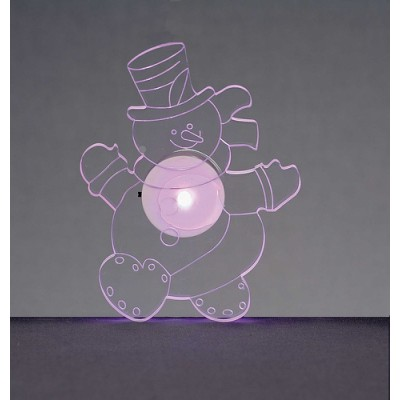 12cm LED Snowman Window Sucker