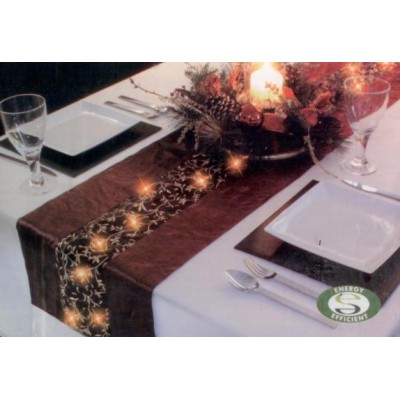 LED Lit Red Table Runner