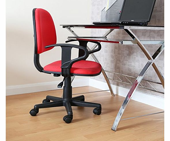 Office Chair with Arms - 85 - 97 x 54 x 53 cm - Red