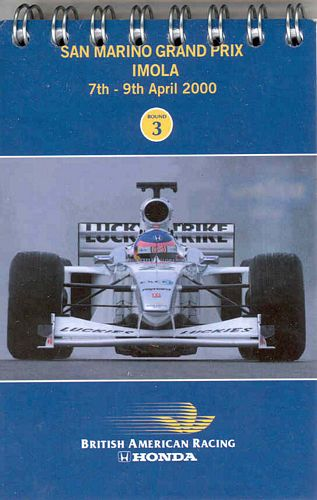 BAR Fact Notebook Imola 2000
