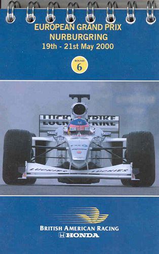 BAR Fact Notebook Nurburgring 2000