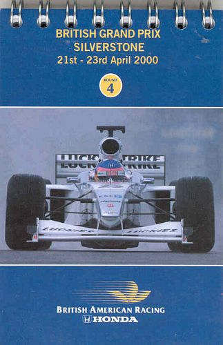 BAR Fact Notebook Silverstone 2000