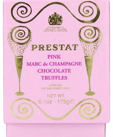 Pink Marc De Champagne Truffles Dusted with Icing Sugar 175 g