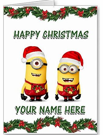 despicable me 2 - minions christmas card personalised