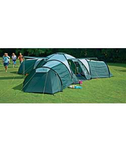 Action Canberra 9 Person 3 Room Tent