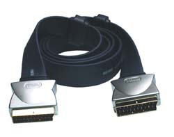PGV782 1.5m Flat Cable Scart Lead