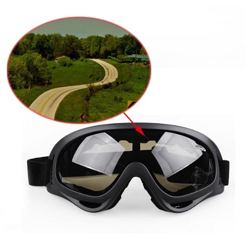 1 Pcs Smoked Goggles Glasses Motorcycle Off Road MotoCross Skiing Helmet Snow Eyewear Warranty