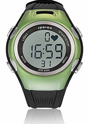 ptyukmall Spovan Sport Fitness Gym Heart Rate Monitor Watch   Chest Strap Green New