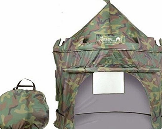 2015 British Army Pop Up Childrens Tent with Windows and Roll Up Door Boys Indoor or Outdoor Use Boy Toy Play Tent / Playhouse / Den