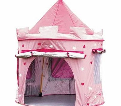 Fairy Princess Tale Castle Pop Up Childrens Tent with Windows and Roll Up Door Pink Girls Indoor or Outdoor Use Girls Pink Toy Play Tent / Playhouse / Den