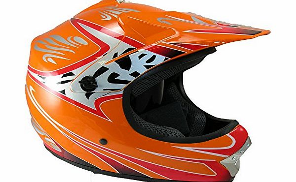 Childrens Kids Motocross & Atv Off Road Crash Helmet Pit Bike Protection Sp, Main Colour: Black, Size: XS 51-52cm