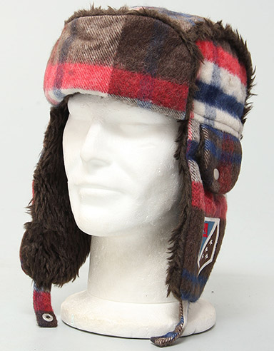 Guanaco Trapper hat - Chili Pepper
