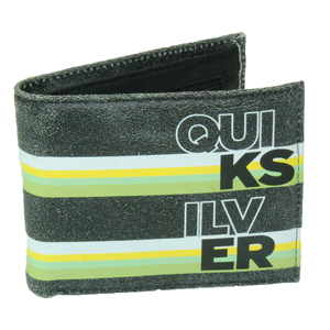 Mens Quiksilver My Lucky Day Wallet. Black