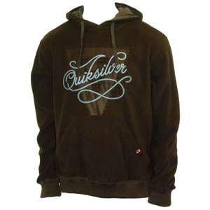 Mens Quiksilver Pedibus Fleece. Bark