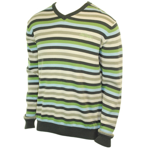 Mens Quiksilver White Sea Knit. Asphalt